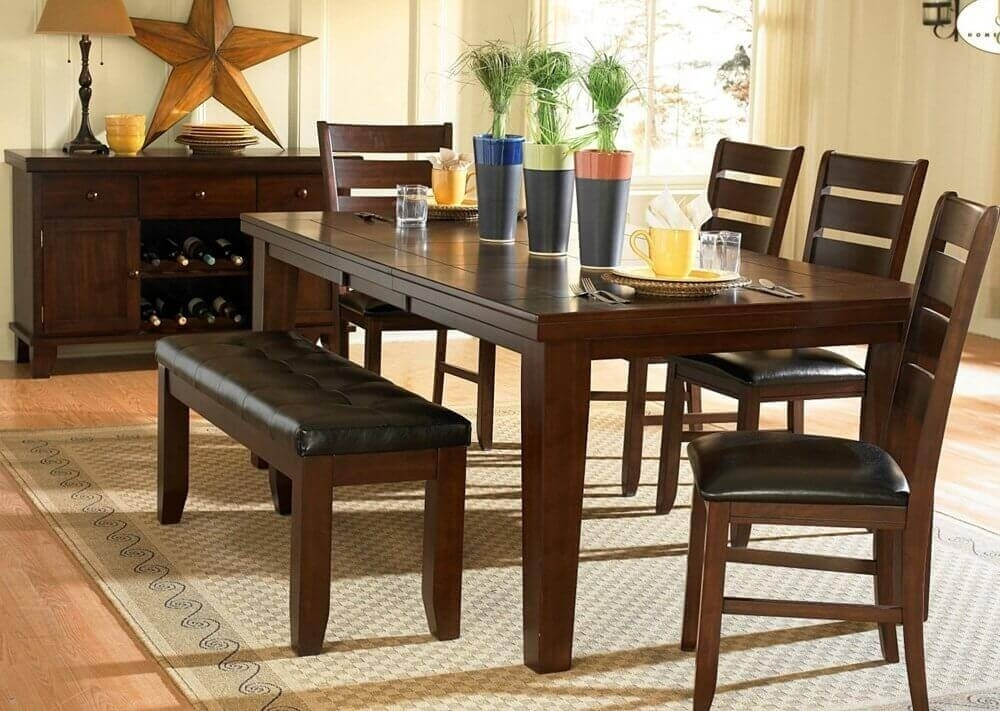 26 Dining Room Sets (Big And Small) With Bench Seating (2018) with regard to Small Dining Tables And Bench Sets