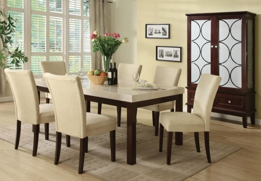 27 Dining Table Designs For Your Dream Home – S Bricks Blog Inside Rectangular Dining Tables Sets (Image 4 of 25)