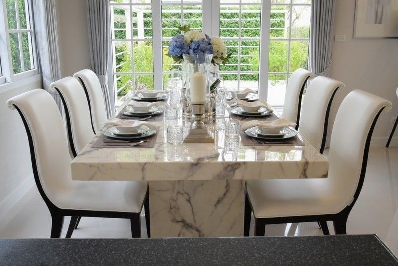 27 Modern Dining Table Setting Ideas | Dining Room Ideas | Pinterest Within Marble Dining Tables Sets (Photo 1 of 25)