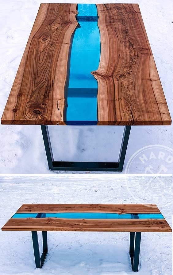 28 Unique Dining Tables To Make The Space Spectacular – Digsdigs With Blue Glass Dining Tables (Image 2 of 25)