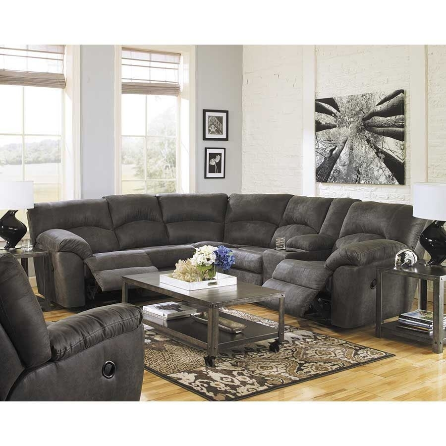 2Pc Pewter Reclining Sectional | 2780148/49 | Ashley Furniture | Afw In Mesa Foam 2 Piece Sectionals (Image 1 of 25)