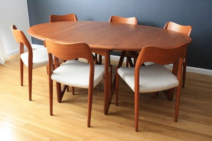 3. Danish Modern Teak Dining Table Danish Dining Table And Chairs With Regard To Danish Dining Tables (Photo 24 of 25)