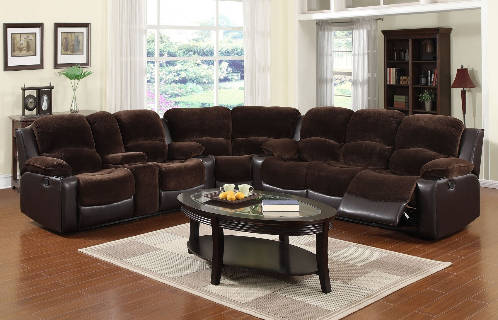 3 Pc Microfiber Sectional Sofa With Recliner And Queen Sleeper In Declan 3 Piece Power Reclining Sectionals With Right Facing Console Loveseat (Photo 24 of 25)