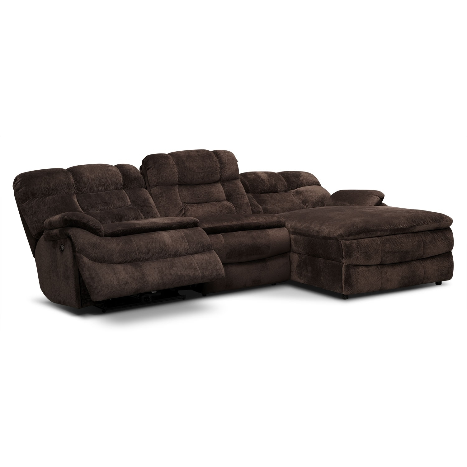 3 Pc Microfiber Sectional Sofa With Recliner And Queen Sleeper Throughout Declan 3 Piece Power Reclining Sectionals With Right Facing Console Loveseat (Photo 22 of 25)