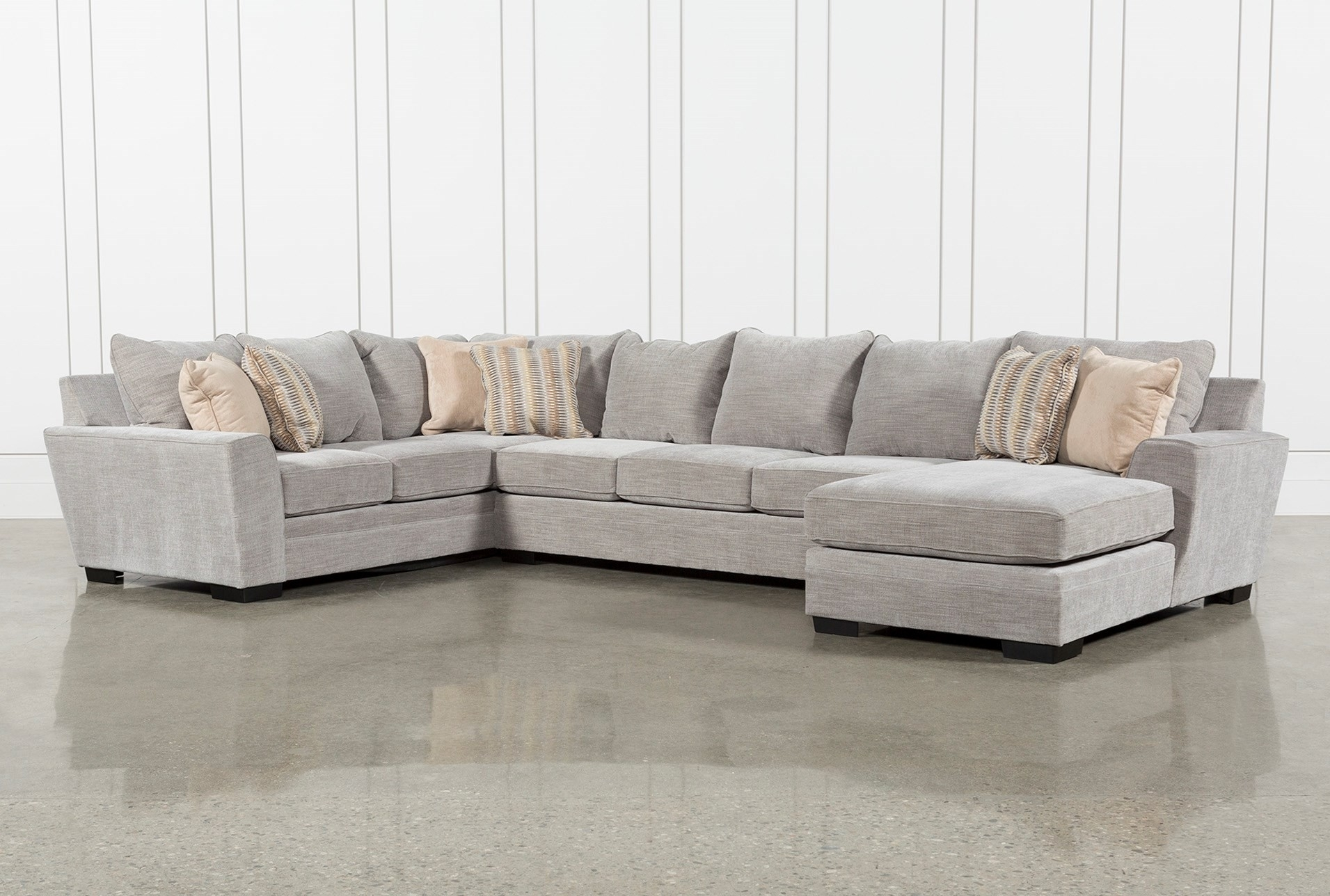 3 Piece Sectional Malbry Point W Laf Chaise Living Spaces 223533 0 For Malbry Point 3 Piece Sectionals With Laf Chaise (Photo 1 of 25)