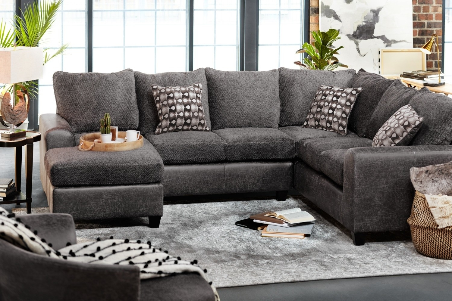 3 Piece Sectional Malbry Point W Laf Chaise Living Spaces 223533 0 intended for Malbry Point 3 Piece Sectionals With Raf Chaise