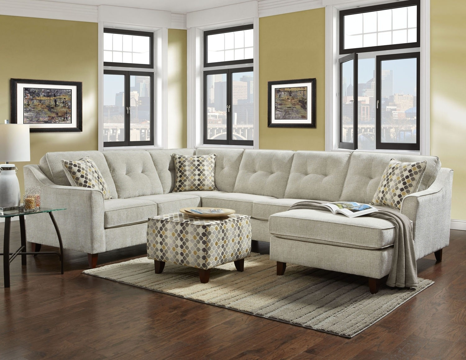 3 Piece Sectional Malbry Point W Laf Chaise Living Spaces 223533 0 Regarding Malbry Point 3 Piece Sectionals With Laf Chaise (View 16 of 25)