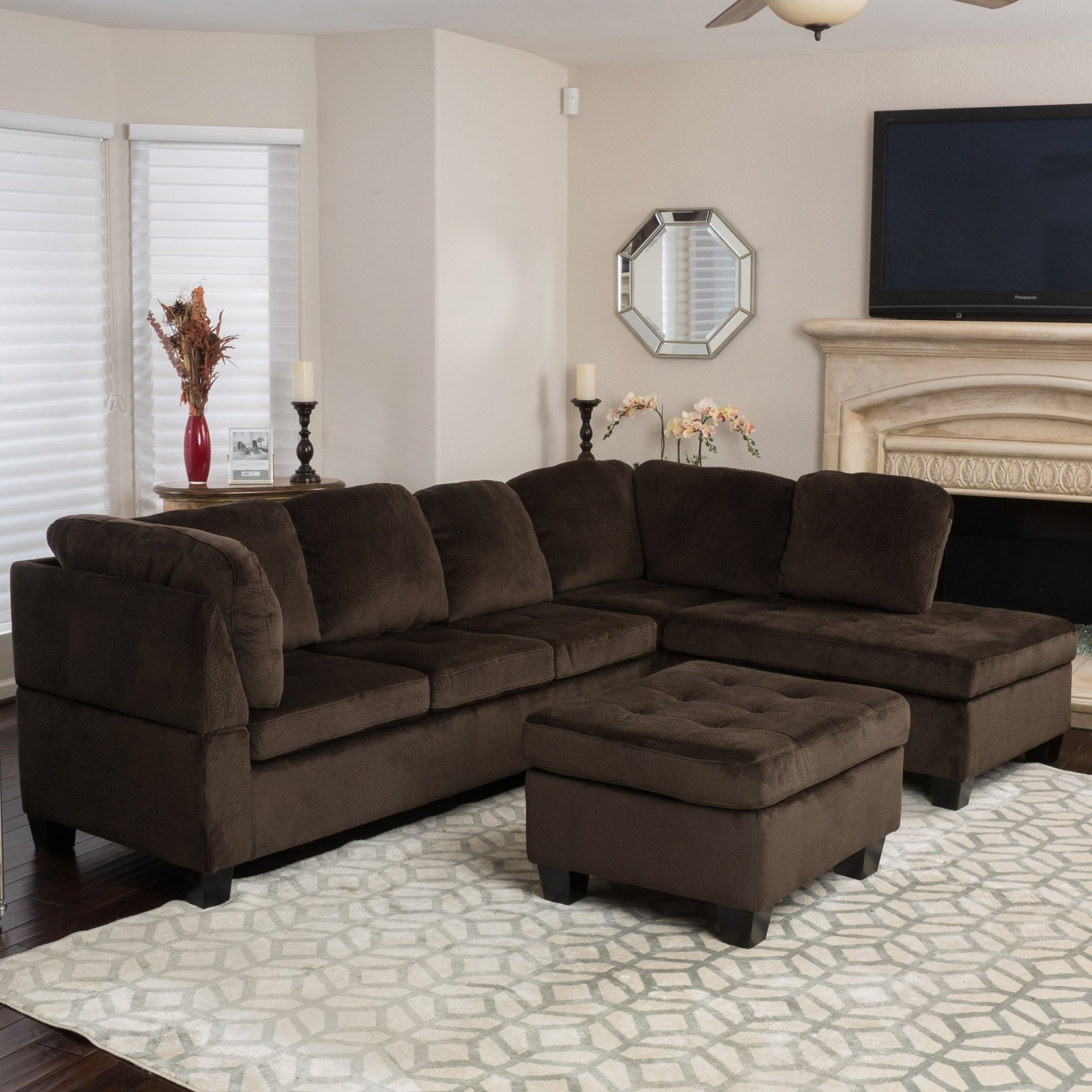 3 Piece Sectional Sofa Dimensions | Baci Living Room Pertaining To Malbry Point 3 Piece Sectionals With Raf Chaise (View 19 of 25)