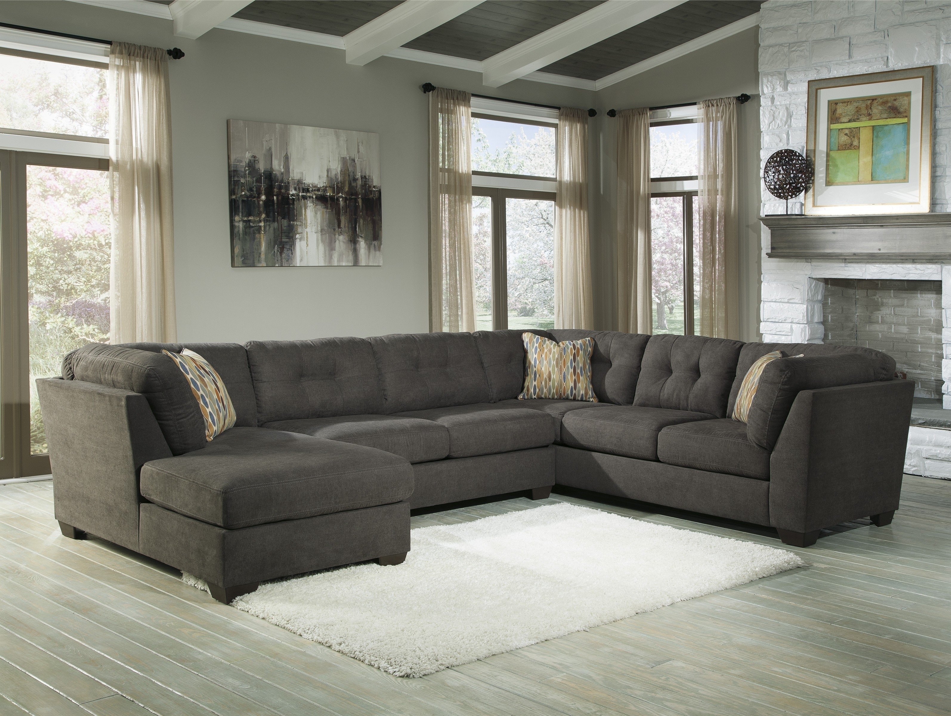 3 Piece Sectional Sofa Dimensions | Baci Living Room Throughout Malbry Point 3 Piece Sectionals With Raf Chaise (View 21 of 25)