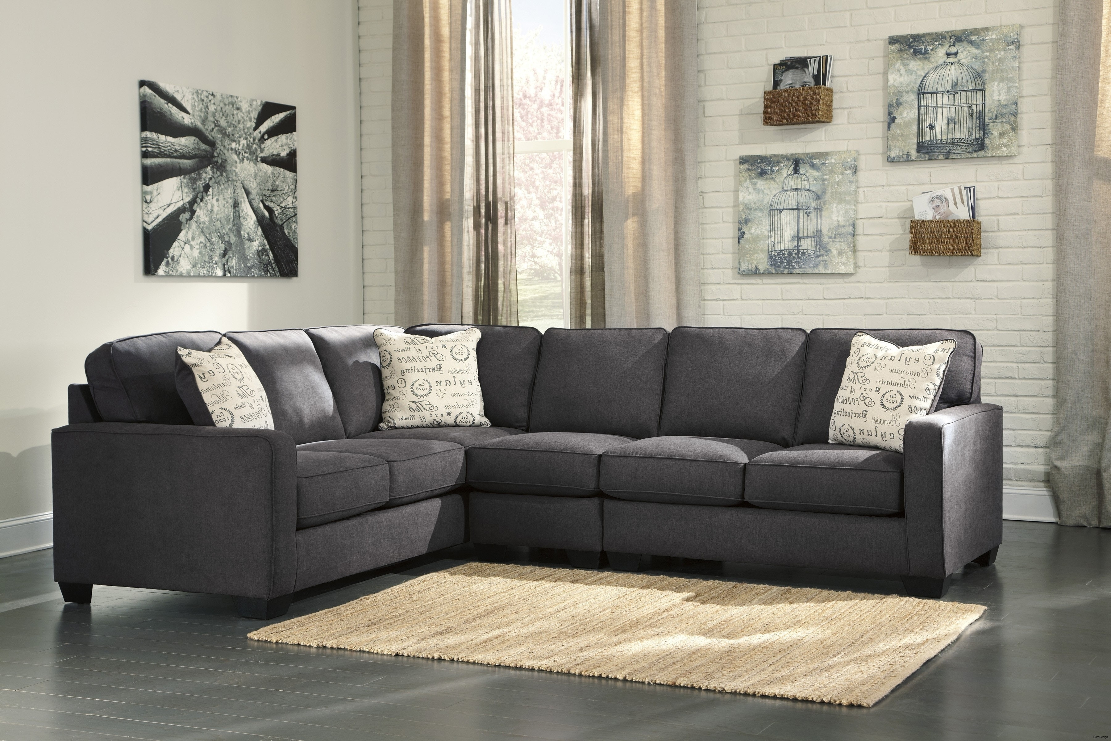 3 Piece Sectional Sofa With Chaise Reviews | Baci Living Room pertaining to Malbry Point 3 Piece Sectionals With Raf Chaise