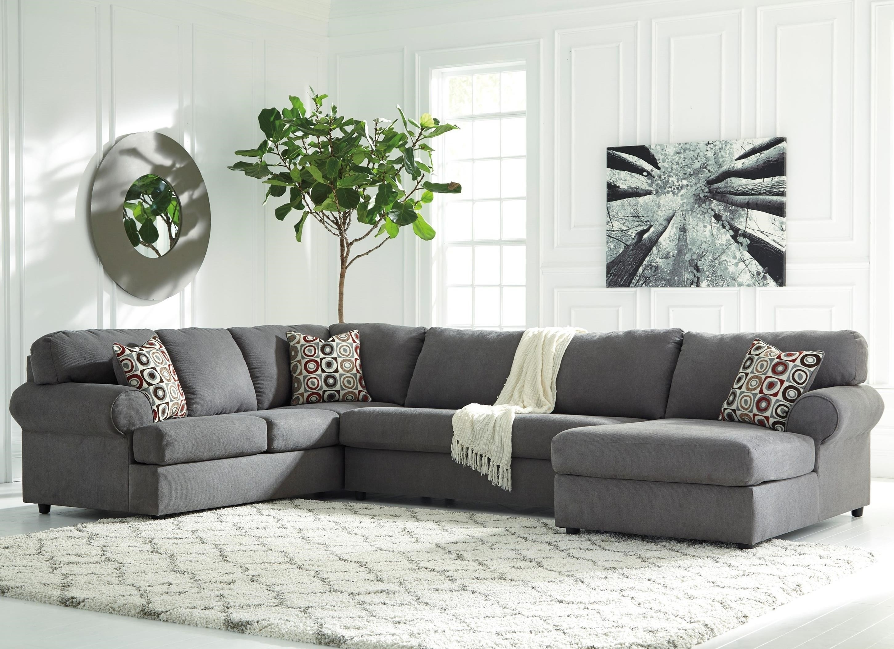 3 Piece Sectional With Chaise Meyer W Raf Living Spaces 87980 2 Jpg Inside Meyer 3 Piece Sectionals With Laf Chaise (Image 2 of 25)