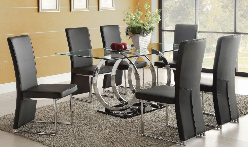 3 Steps To Pick The Ultimate Dining Table And 6 Chairs Set – Blogbeen In Black Glass Dining Tables 6 Chairs (Image 3 of 25)