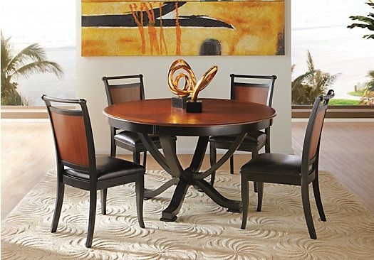30 Best New House Furnishing Images On Pinterest | Diner Table With Caira Black 5 Piece Round Dining Sets With Upholstered Side Chairs (View 21 of 25)