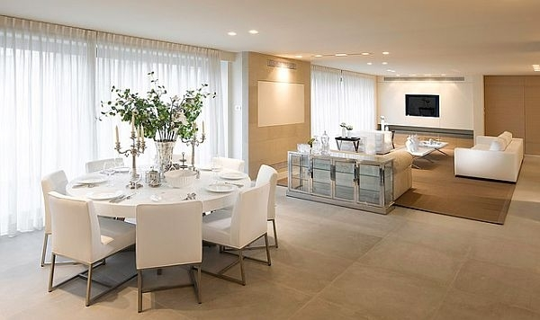 30 Eyecatching Round Dining Room Tables Design Ideas For Dining Within White Dining Suites (View 22 of 25)