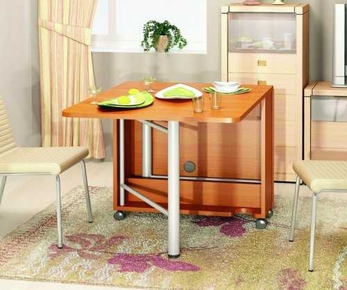 30 Space Saving Folding Table Design Ideas For Functional Small Rooms for Dining Tables With Fold Away Chairs