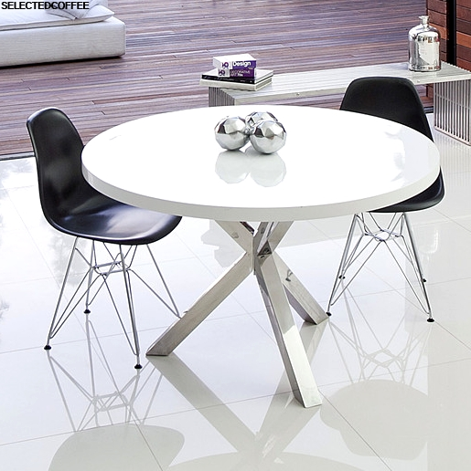 35 Incredible White Round Dining Table Ideas With White Circle Dining Tables (Photo 21 of 25)