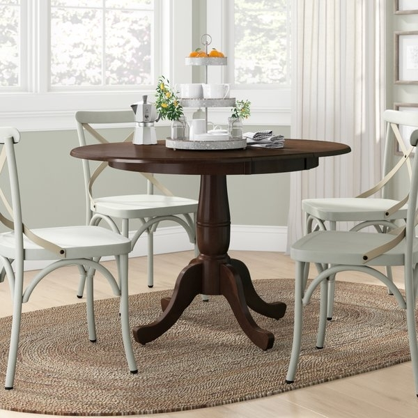 36 X 48 Dining Table | Wayfair With Valencia 5 Piece Round Dining Sets With Uph Seat Side Chairs (Image 3 of 25)