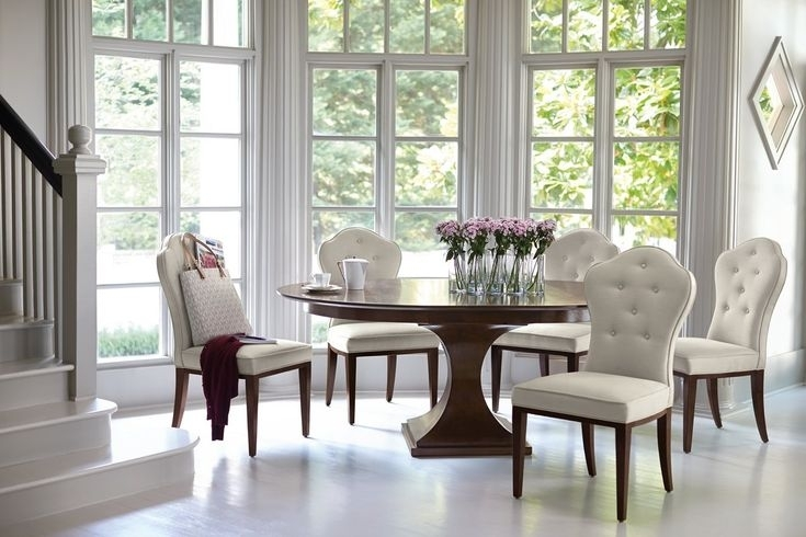 37 Best Home Building: Dining Room Images On Pinterest | Dining Intended For Weaver Dark 7 Piece Dining Sets With Alexa White Side Chairs (View 22 of 25)