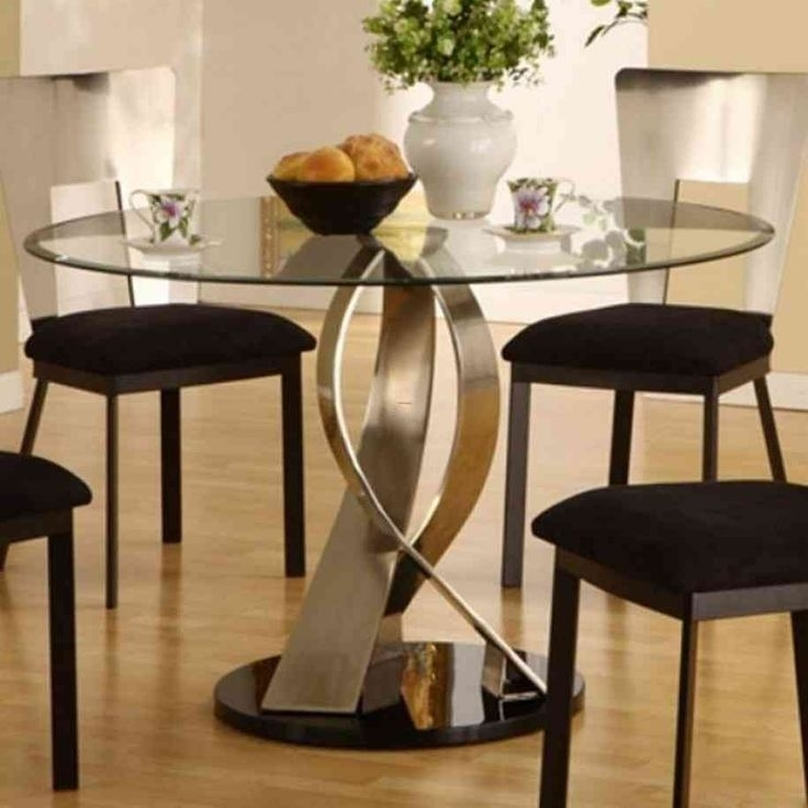 387 Best Glass Table Images On Pinterest | Zucchini, Sweet Pastries With Retro Glass Dining Tables And Chairs (Image 2 of 25)