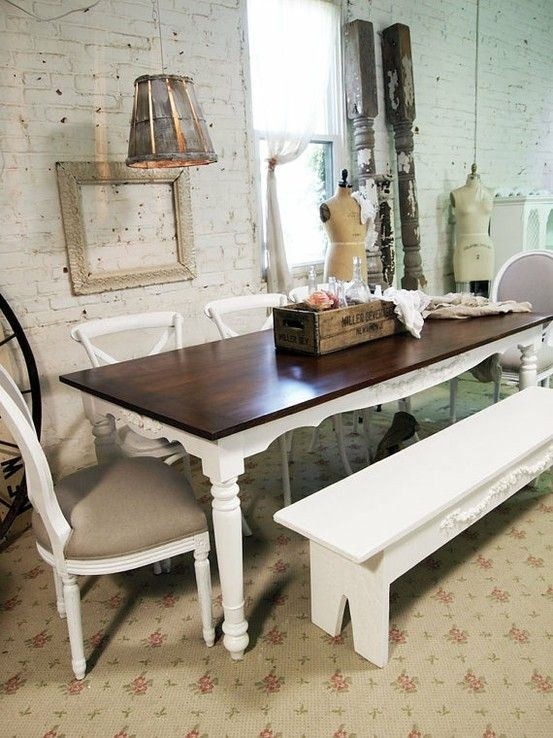 39 Beautiful Shabby Chic Dining Room Design Ideas | Digsdigs Throughout Shabby Chic Dining Sets (Photo 6 of 25)