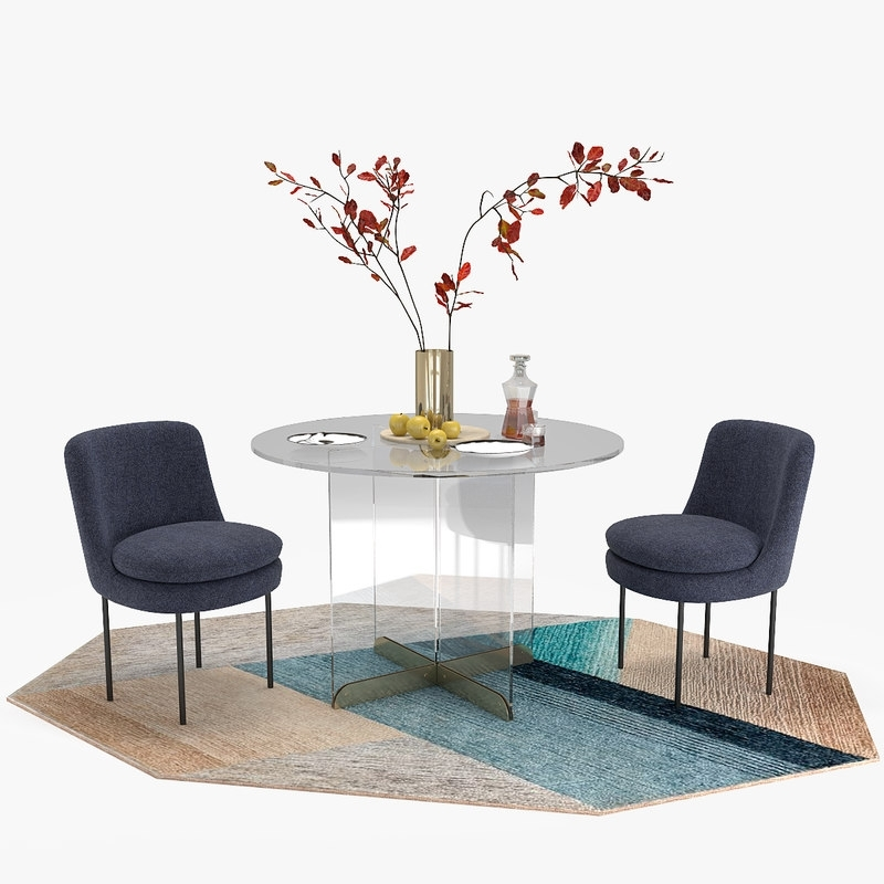 3D Calliope Dining Table Modern Model – Turbosquid 1217614 Within Curved Glass Dining Tables (View 23 of 25)