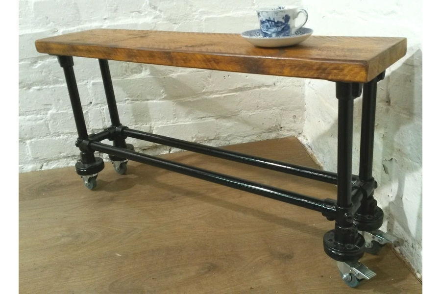 3Ft Industrial Scaffold Rustic Vintage Reclaimed Pine Dining Table Within 3Ft Dining Tables (Photo 19 of 25)
