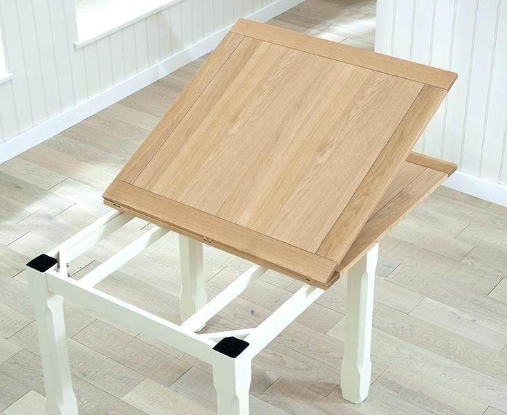 3Ft Square Oak Dining Table 6Ft X Solid Extending Round Furniture In Within 3Ft Dining Tables (Photo 21 of 25)
