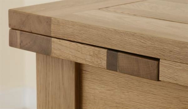 3Ft X 3Ft Solid Oak Extending Square Wood Dining Table Shop For Sale In Extending Solid Oak Dining Tables (Image 1 of 25)