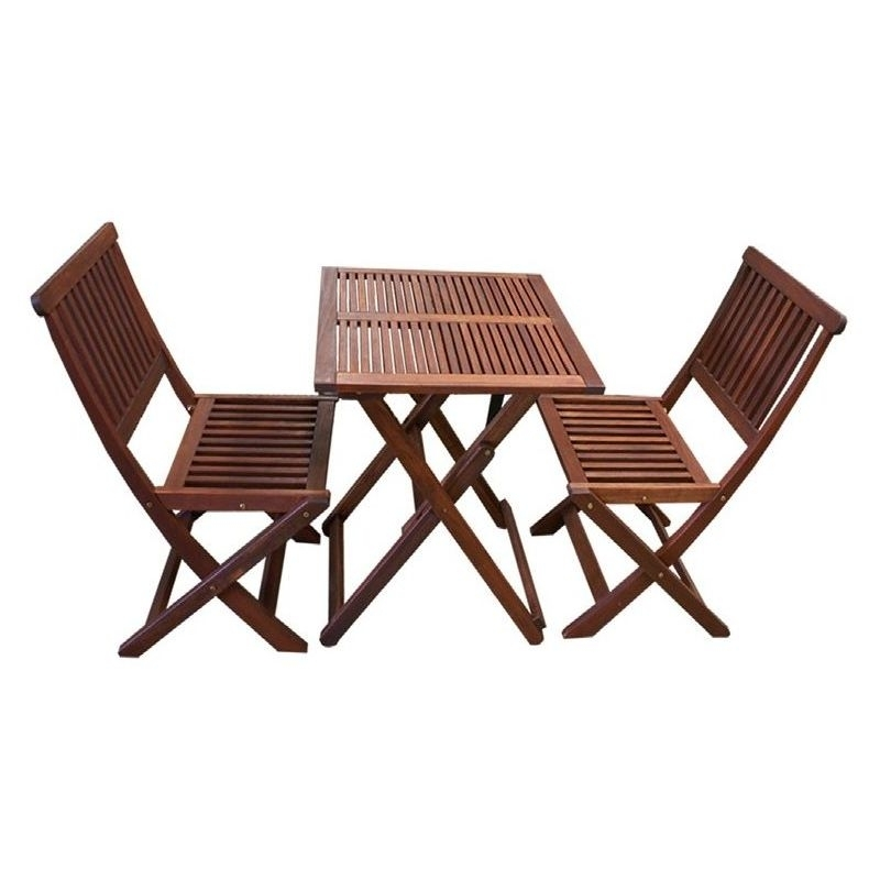 3Pc Outdoor Dining Table And Chairs Set Foldable | Buy 2 Seat Dining With Regard To Outdoor Dining Table And Chairs Sets (Photo 10 of 25)