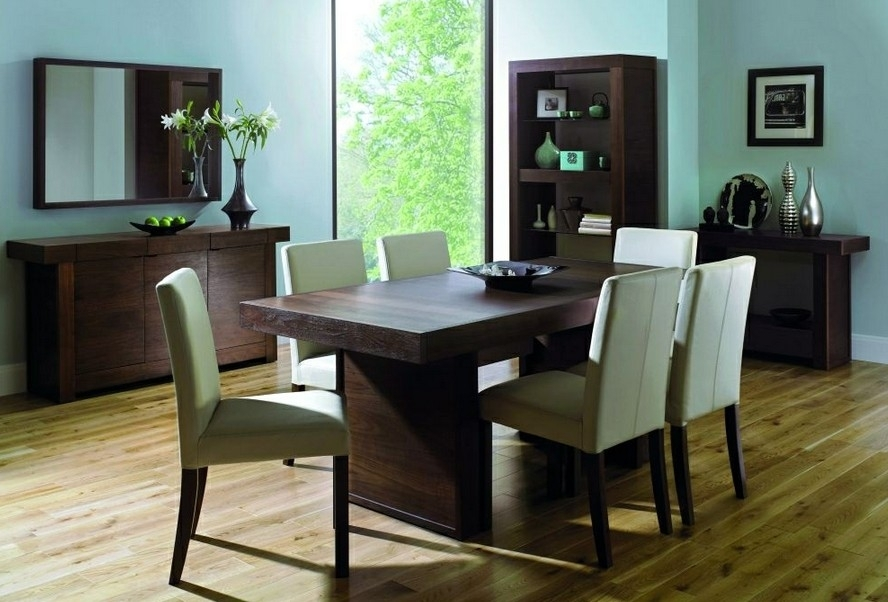 4-6 Seater Dining Set - Keens Furniture in Walnut Dining Tables And 6 Chairs