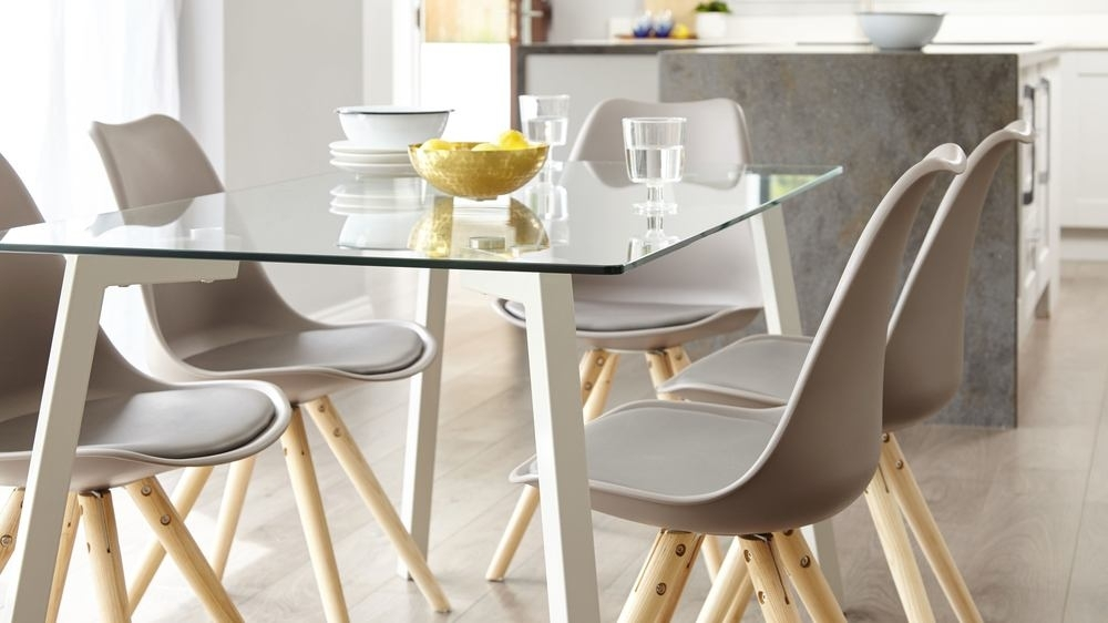 4 6 Seater Glass Dining Table | Modern Dining | Uk Regarding Glass Dining Tables 6 Chairs (Photo 24 of 25)