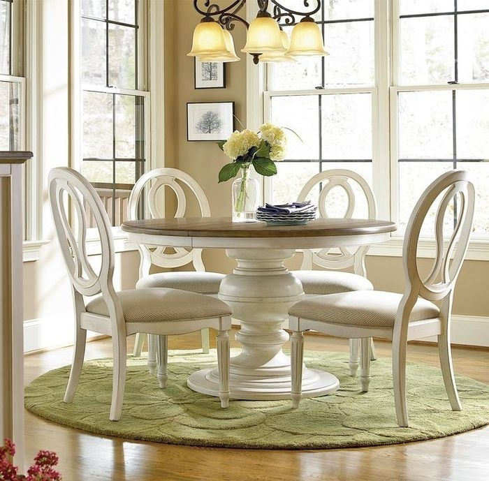 4. Amazing Extendable Dining Table Set Throughout Round Extendable Dining Tables And Chairs (Photo 17 of 25)