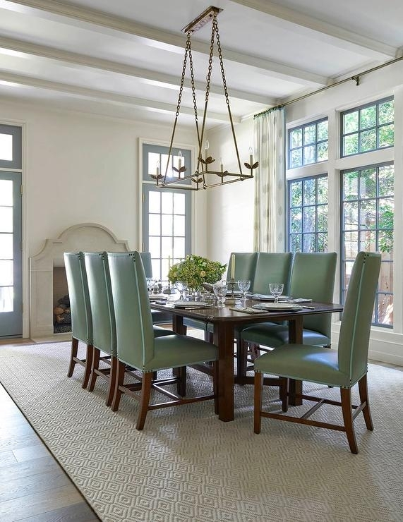 4. Green Dining Room Furniture White And Green Dining Room With Pertaining To Green Dining Tables (Photo 14 of 25)