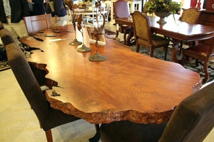 4. Natural Wood Dining Table In The Best Solid Furniture Intended for Solid Wood Dining Tables