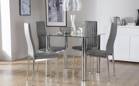 4 Optimal Choices In Glass Dining Table And Chairs – Blogbeen Intended For Glass Dining Tables And Chairs (Image 2 of 25)