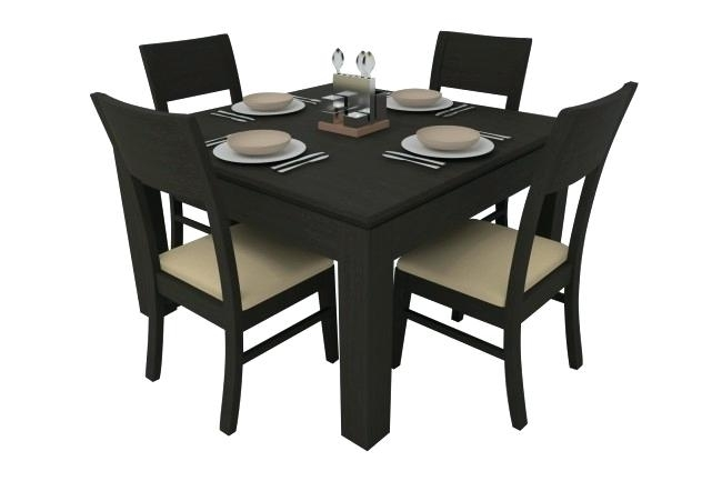 4 Piece Dining Table And Chairs Synova Ashburn Set Seater Teak Wood In Small 4 Seater Dining Tables (Image 2 of 25)