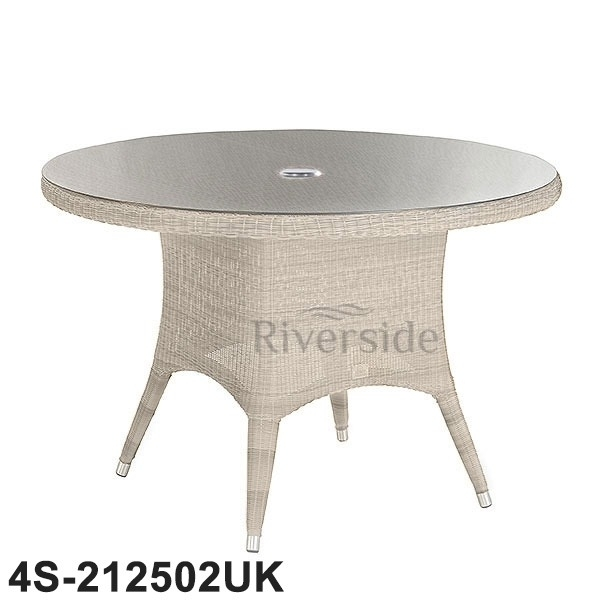 4 Seasons Outdoor - Victoria Rattan Dining Table 130Cm | Rattan with Rattan Dining Tables