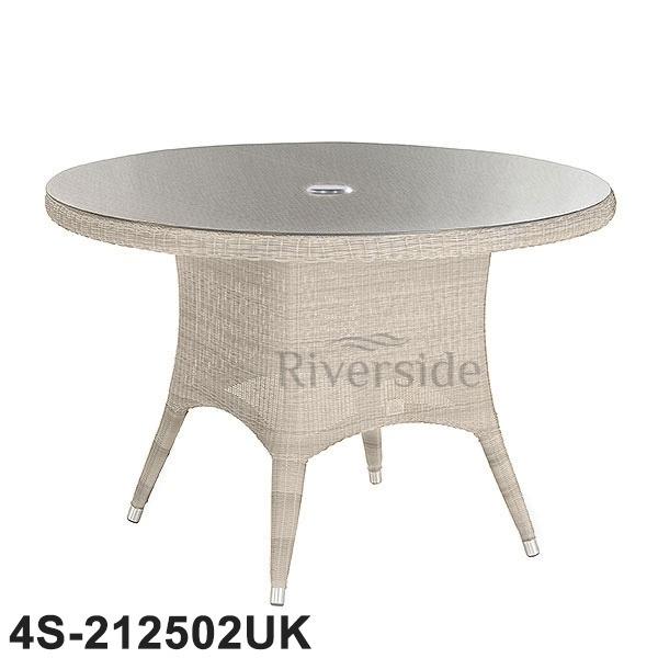 4 Seasons Outdoor – Victoria Rattan Dining Table 130Cm | Rattan With Rattan Dining Tables (Image 1 of 25)