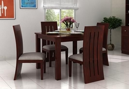 4 Seater Dining Room Table Best Of Wooden Dining Tables For 4 Seat Dining Tables (Image 2 of 25)