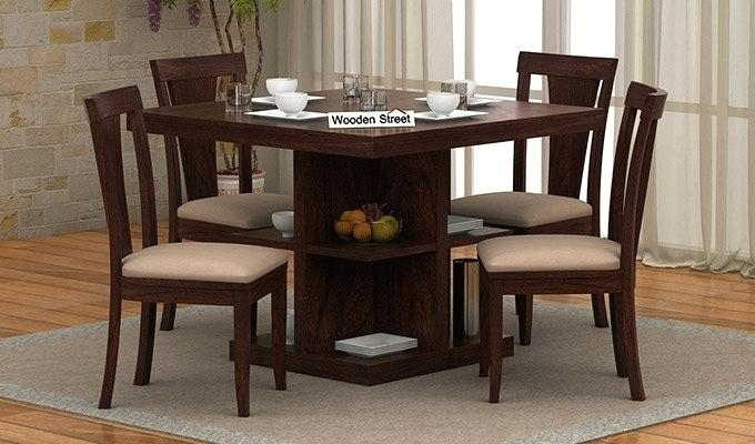 4 Seater Dining Table Cover Online India Size In Inches Tables Within Small 4 Seater Dining Tables (Photo 20 of 25)