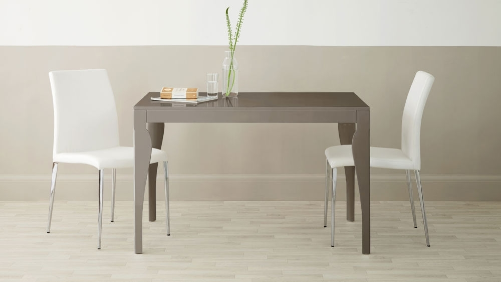 4 Seater Dining Table | Grey Gloss | Uk Delivery in Gloss Dining Tables