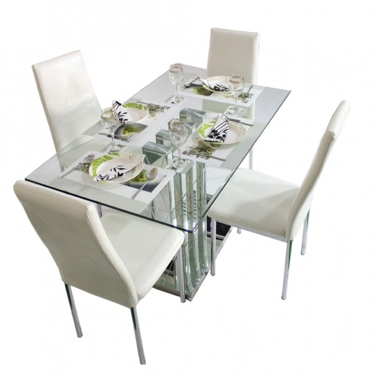 4 Seater Dining Table | Home Design Ideas With Regard To Crystal Dining Tables (View 11 of 25)