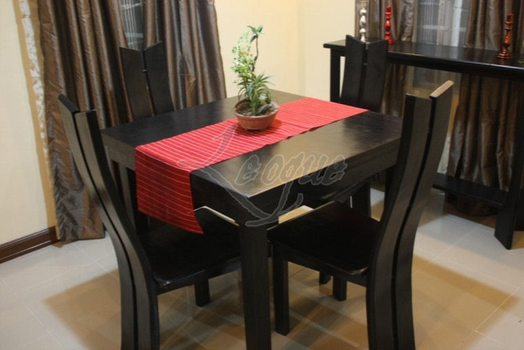 4 Seater Dining Table Set W Chairs : Leoque Collection – One Look Throughout 4 Seat Dining Tables (Image 6 of 25)