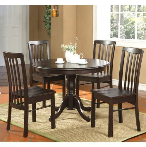 4 Seater Round Table Dining Set, Wooden Dining Tables – Best Retail Inside 4 Seat Dining Tables (Image 5 of 25)