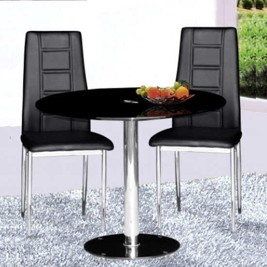 4 Undeniable Benefits Of Contemporary Glass Dining Tables For Round Black Glass Dining Tables And 4 Chairs (Image 1 of 25)