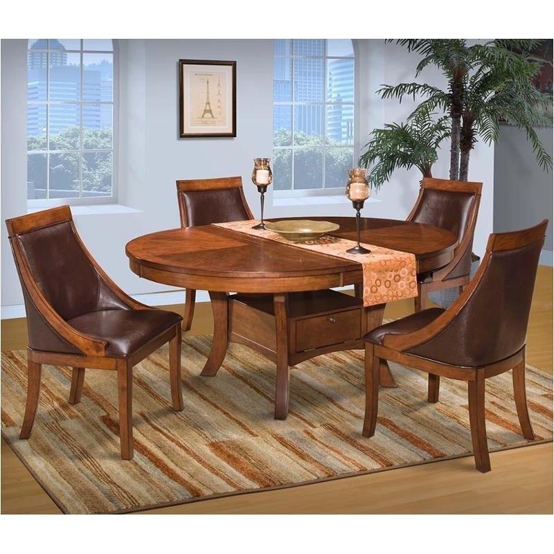 40-116-11 New Classic Furniture Aspen Round Dining Table throughout Aspen Dining Tables