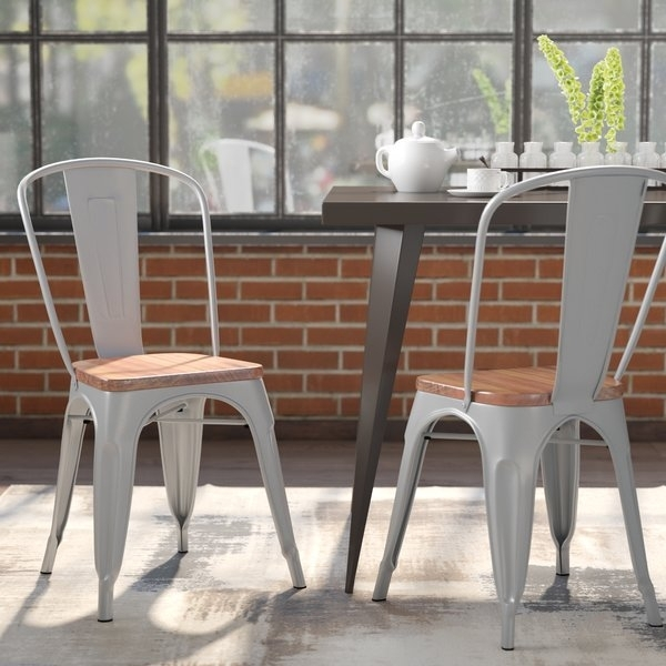 400 Lbs Capacity Dining Chairs | Wayfair within Caira Black 5 Piece Round Dining Sets With Diamond Back Side Chairs