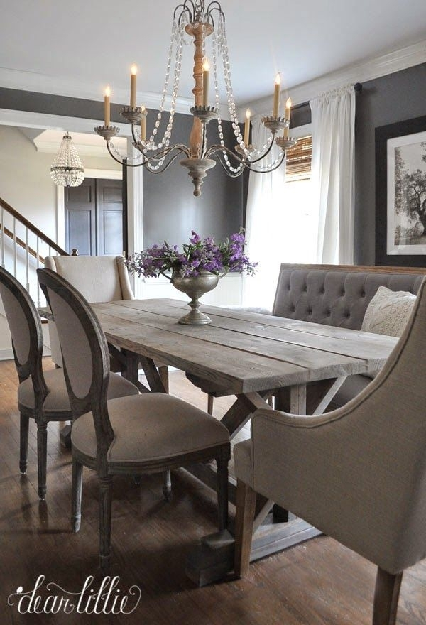 41 Best Sarah's Interior Design Style & Ideas Images On Pinterest inside Bale Rustic Grey 7 Piece Dining Sets With Pearson White Side Chairs