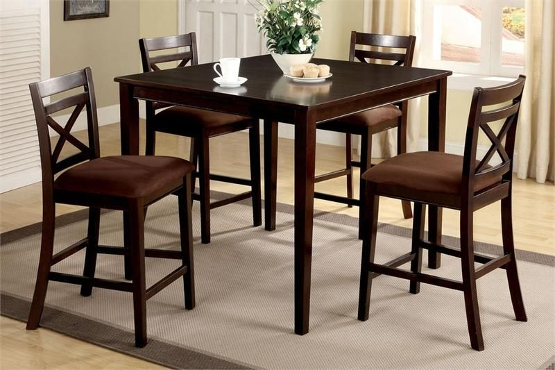 "42"" Weston Ii Square Espresso Counter Height Set 