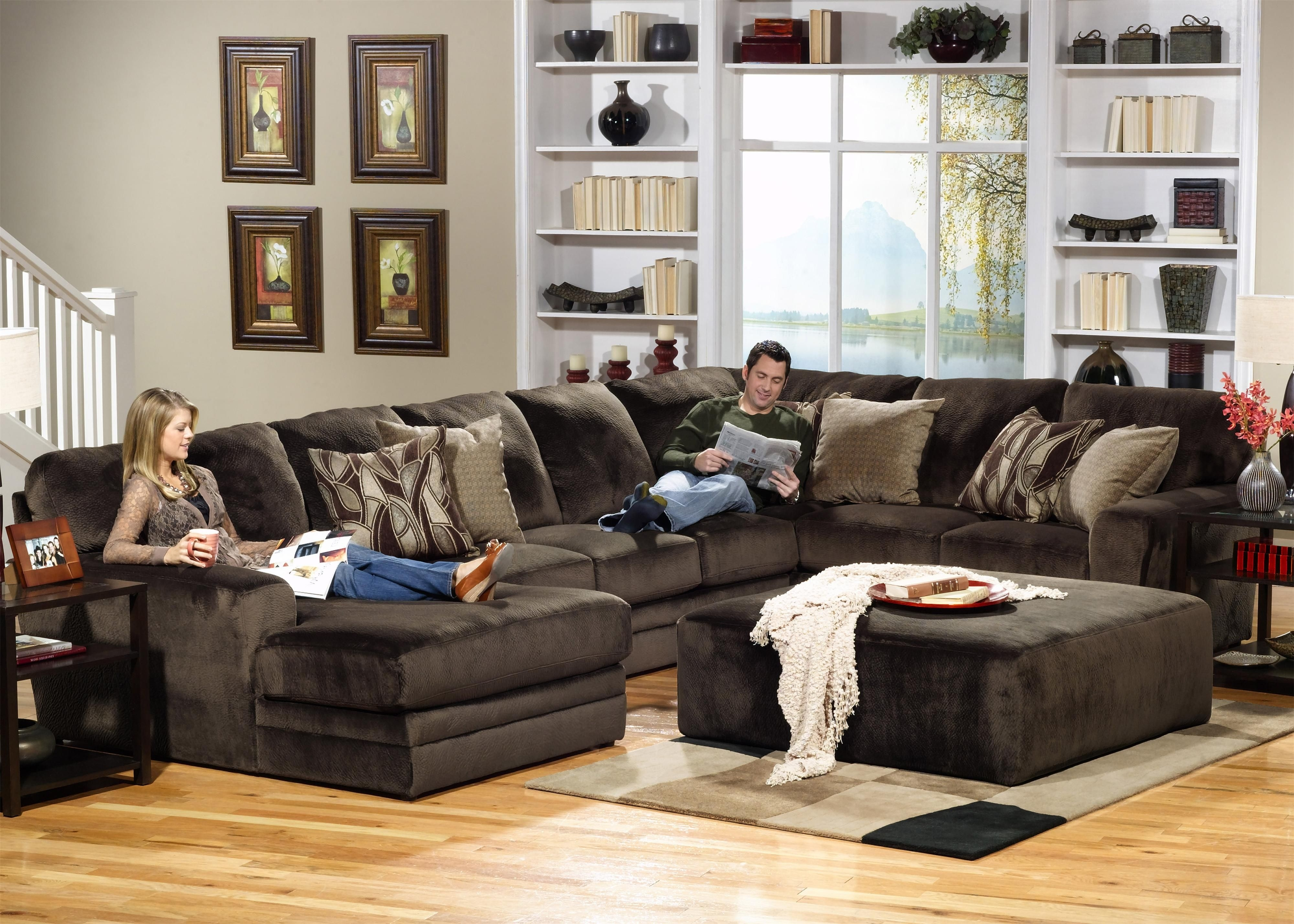 4377 Everest 3 Piece Sectional With Rsf Sectionjackson Furniture in Jackson 6 Piece Power Reclining Sectionals With  Sleeper